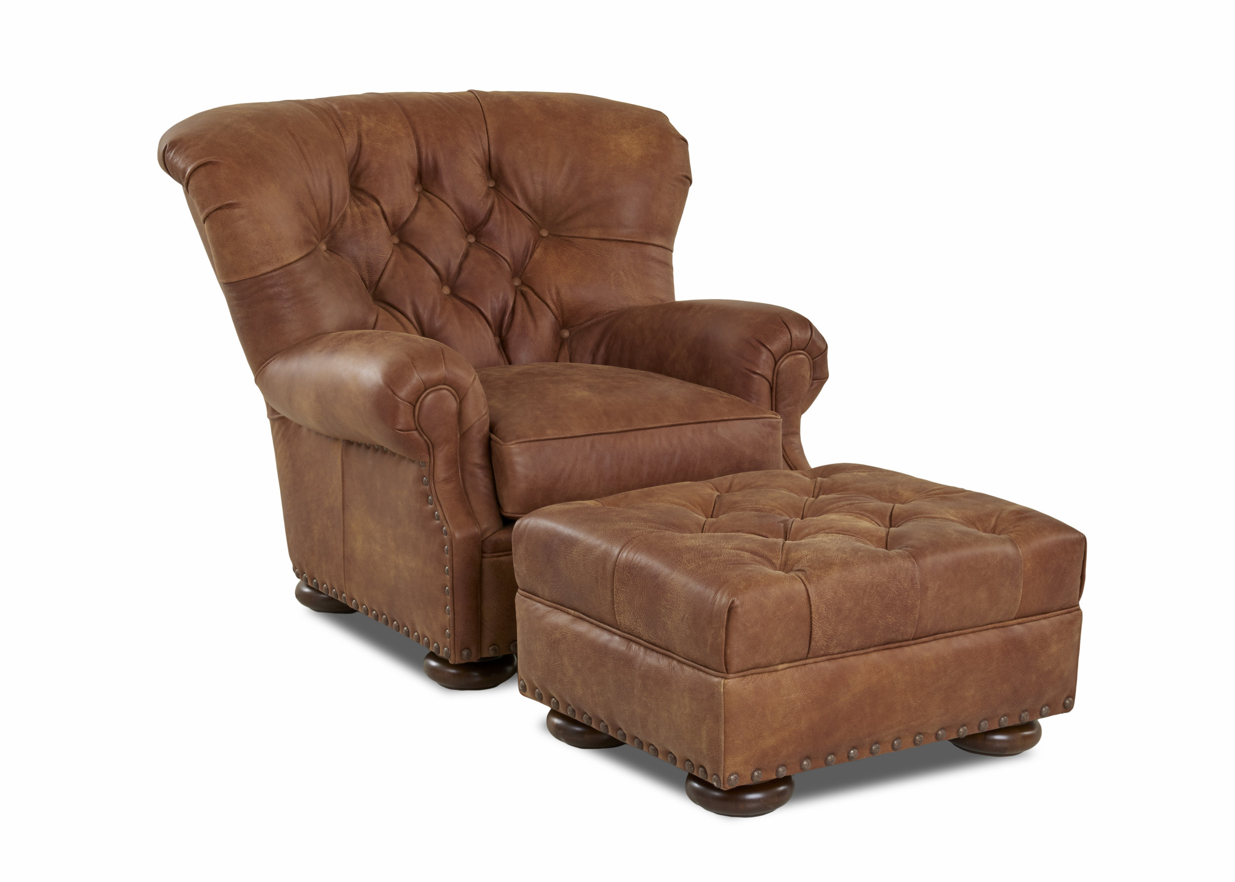 Customizable Aspen Leather Tufted Chair Miller S Home Furnishings