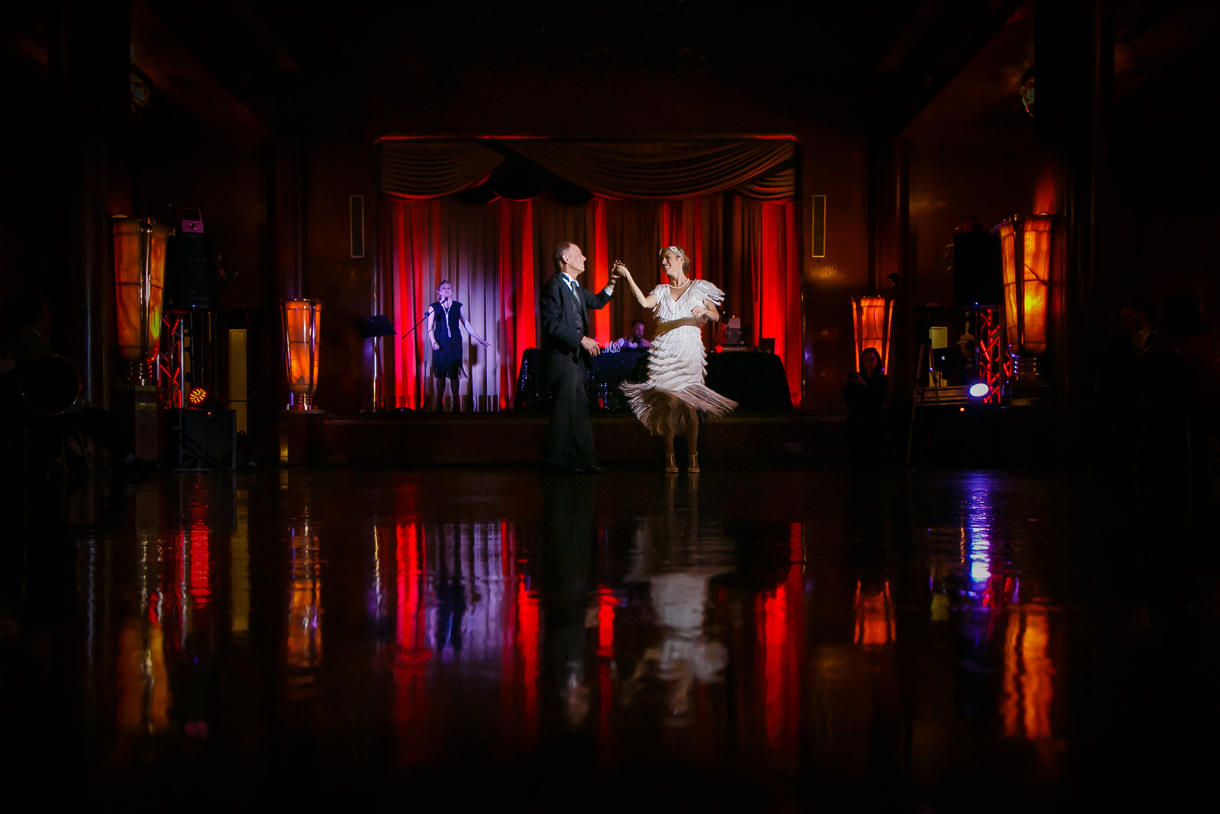 WEDDING RECEPTION AT THE QUEEN MARY IN LONG BEACH, CALIFORNIA