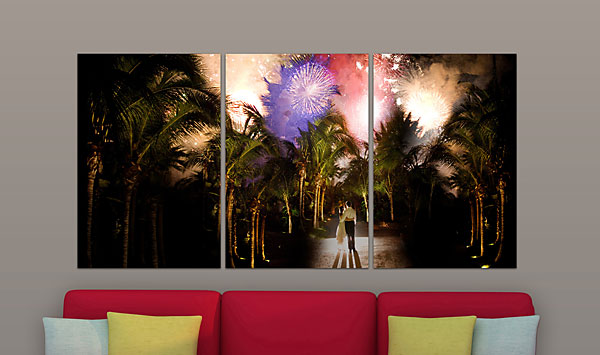 """Copy of  RECTANGLE TRIPTYCH (L) (Overall Size: 74x36"""")"""