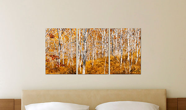 "RECTANGLE TRIPTYCH (S) (Overall Size: 38x18"")"