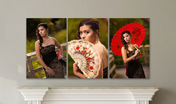 "RECTANGLE TRIPTYCH (M) (Overall Size: 50x24"")"