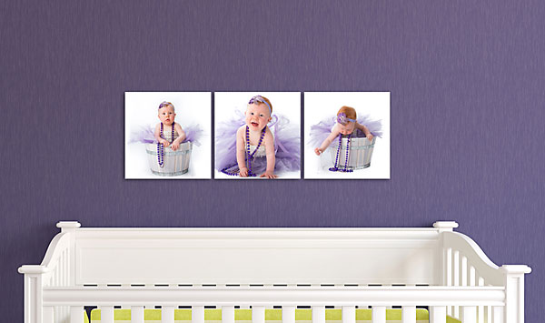 "SQUARE TRIPTYCH (S) (Overall Size: 38x12"")"