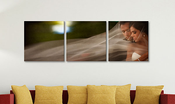 "SQUARE TRIPTYCH (L) (Overall Size: 62x20"")"