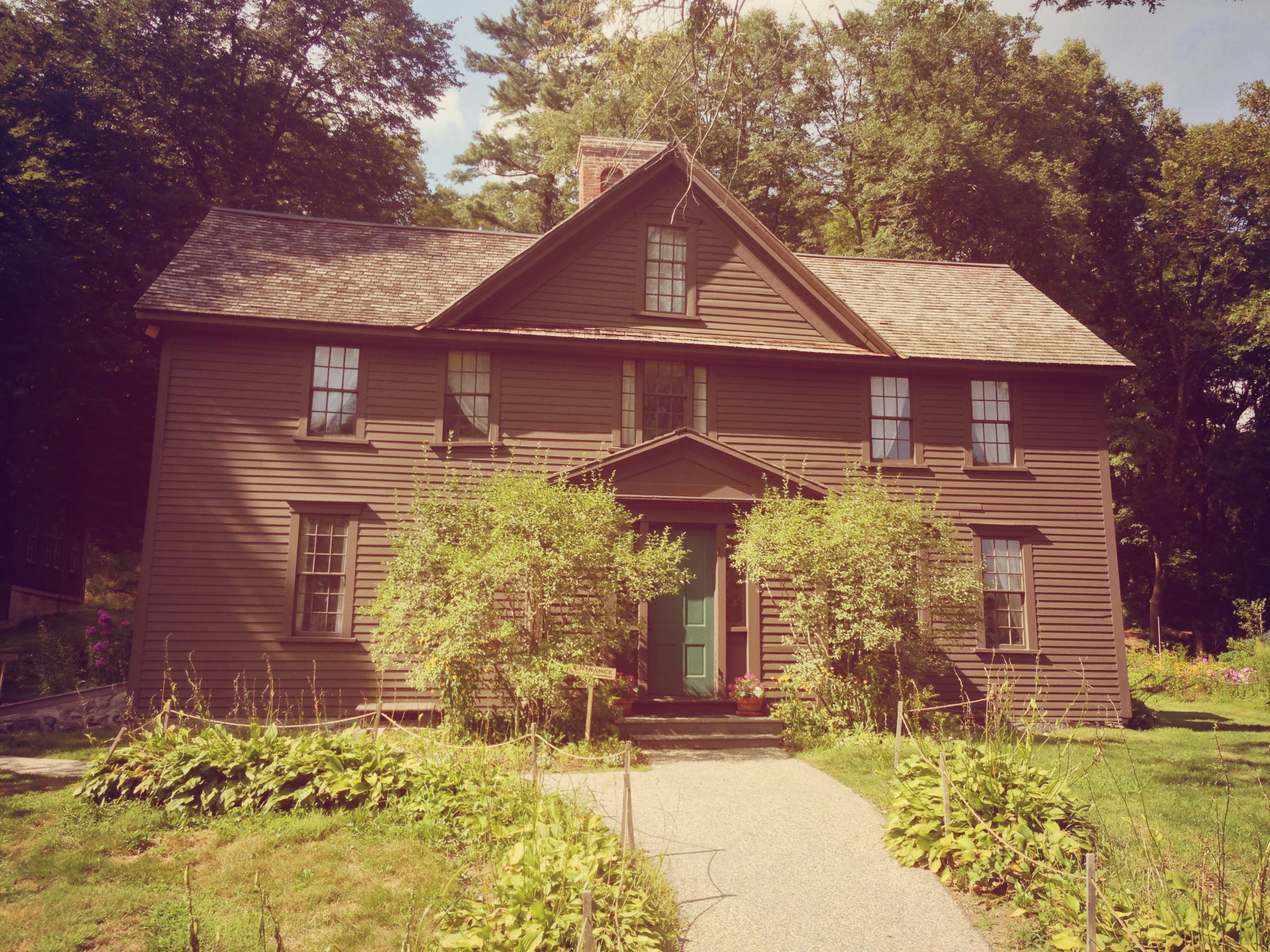 'Orchard House from Little Women.' Photograph by  Victor Grigas , licenced under  Creative Commons .