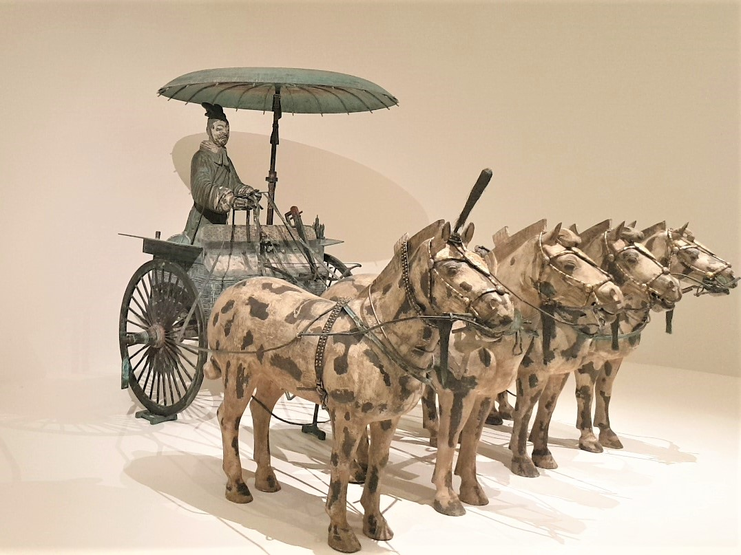 Chariot Qin Dynasty replica. Bronze. Photograph by Rasheeda Wilson, used with permission.