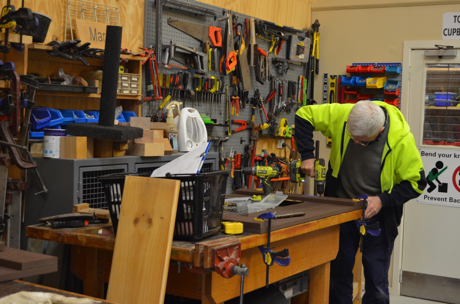 Men's Sheds provide a space to learn new skills, work on projects, and bond with others in the community. Photograph by Bren Carruthers.