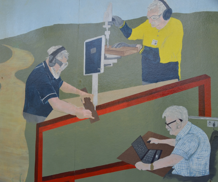 A painted mural outside the Hume Men's Shed – Cragieburn. Photograph by Bren Carruthers.
