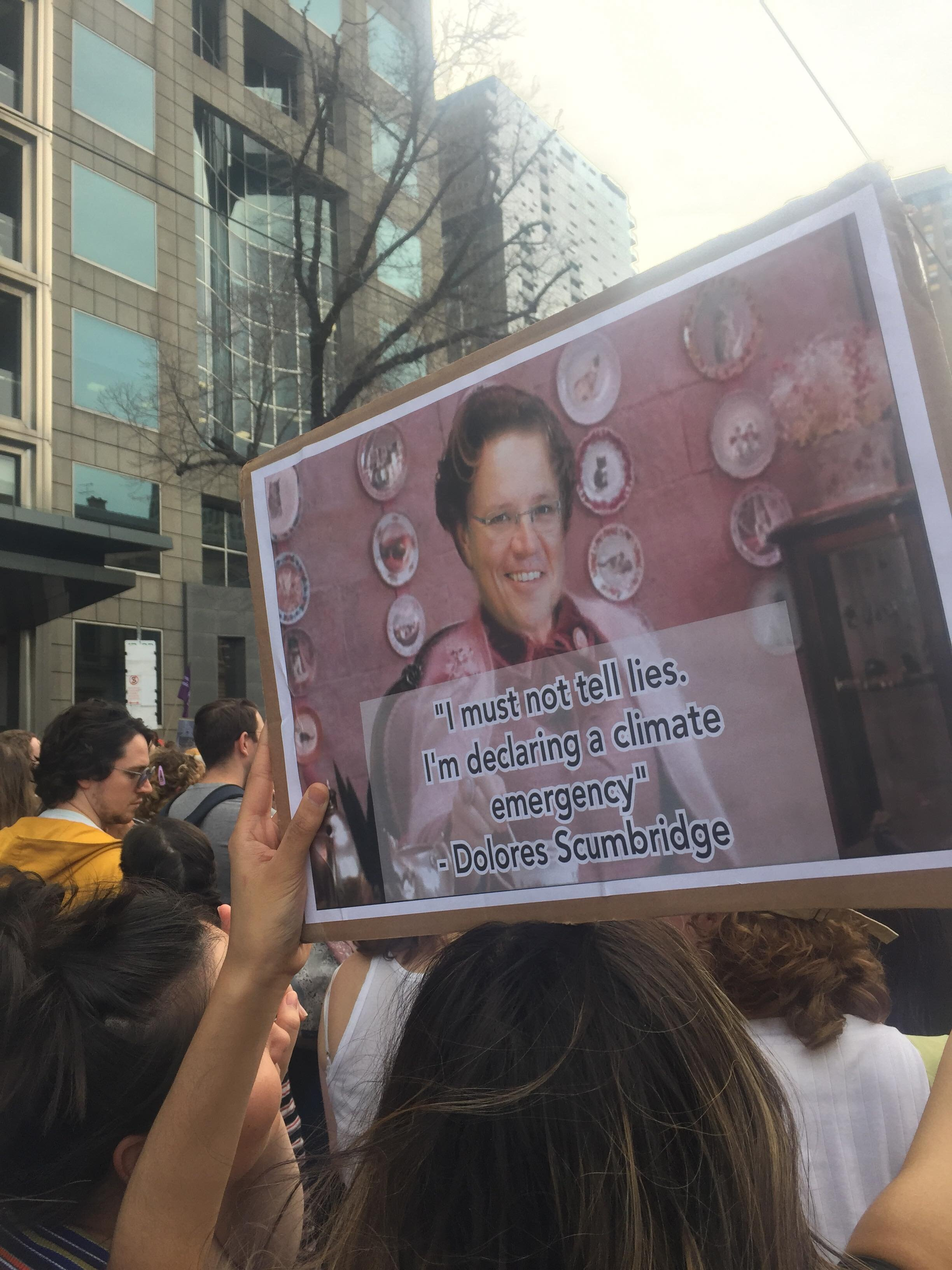 One of the many signs referencing Prime Minister Scott Morrison. Photograph by Nikkola Mikocki-Bleeker