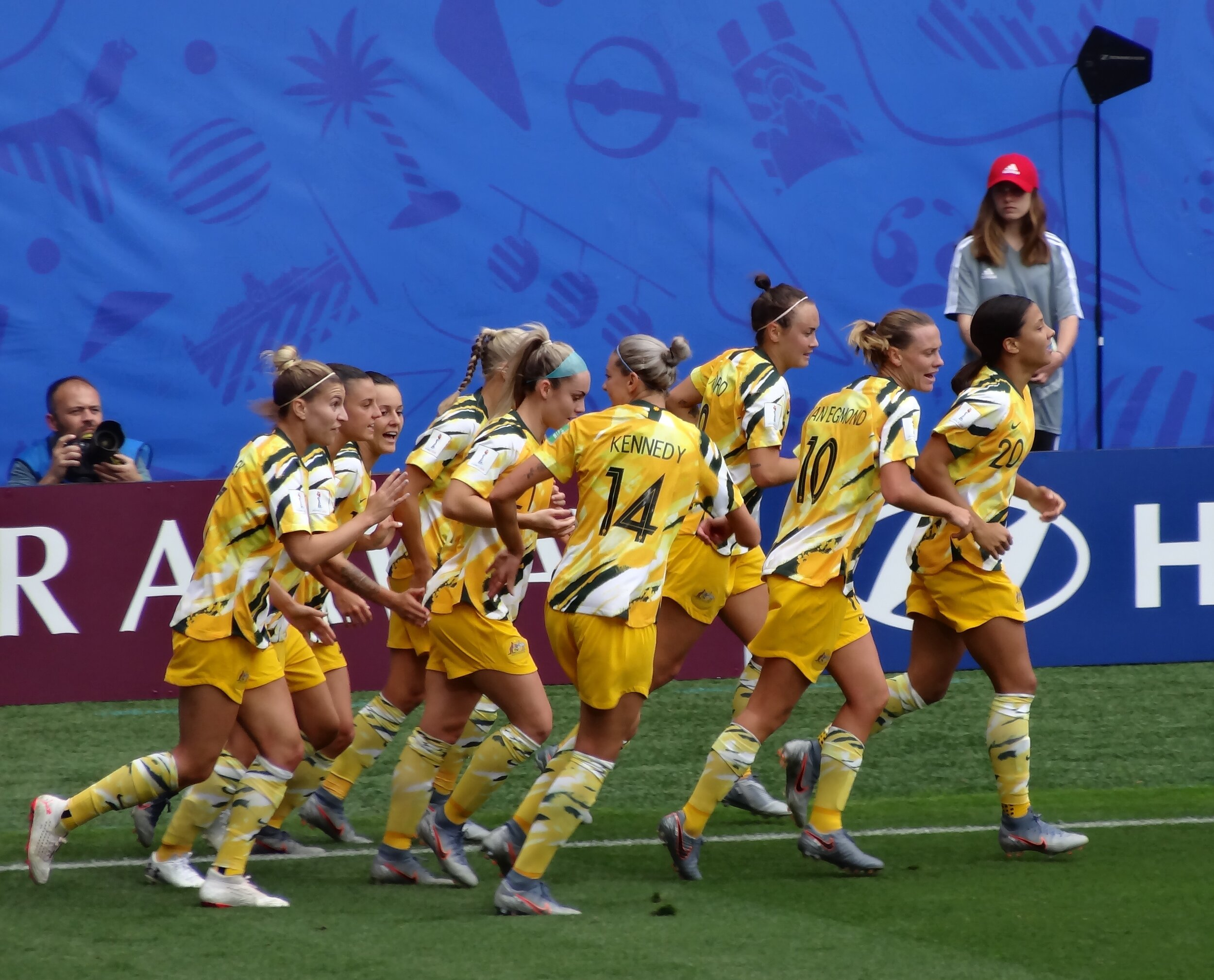 The Matildas during the 2019 FIFA Women's World Cup. Photograph by    Liondartois   , used with permission under the    CC BY-SA 4.0   .