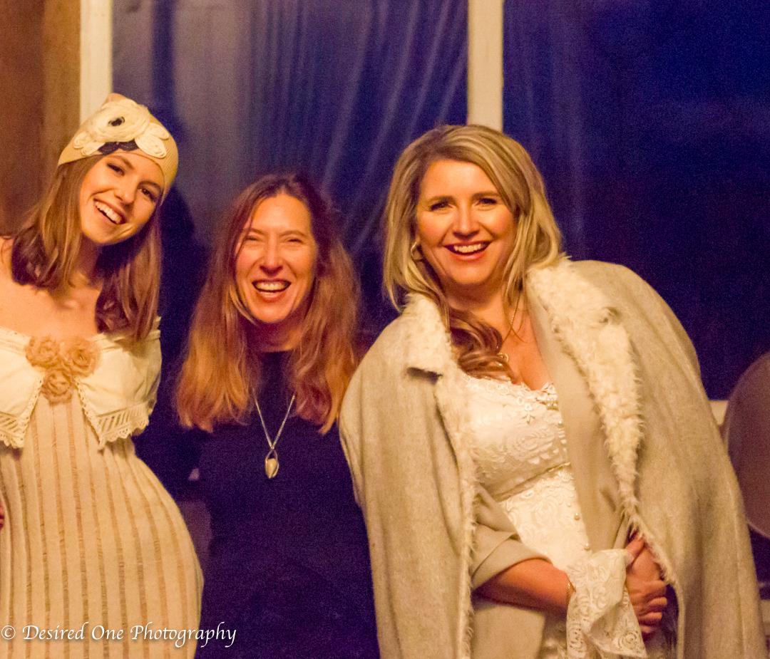 Model: Liliana Bogart on left, Designer:Kim McCormick, Model:Tetyana Golota