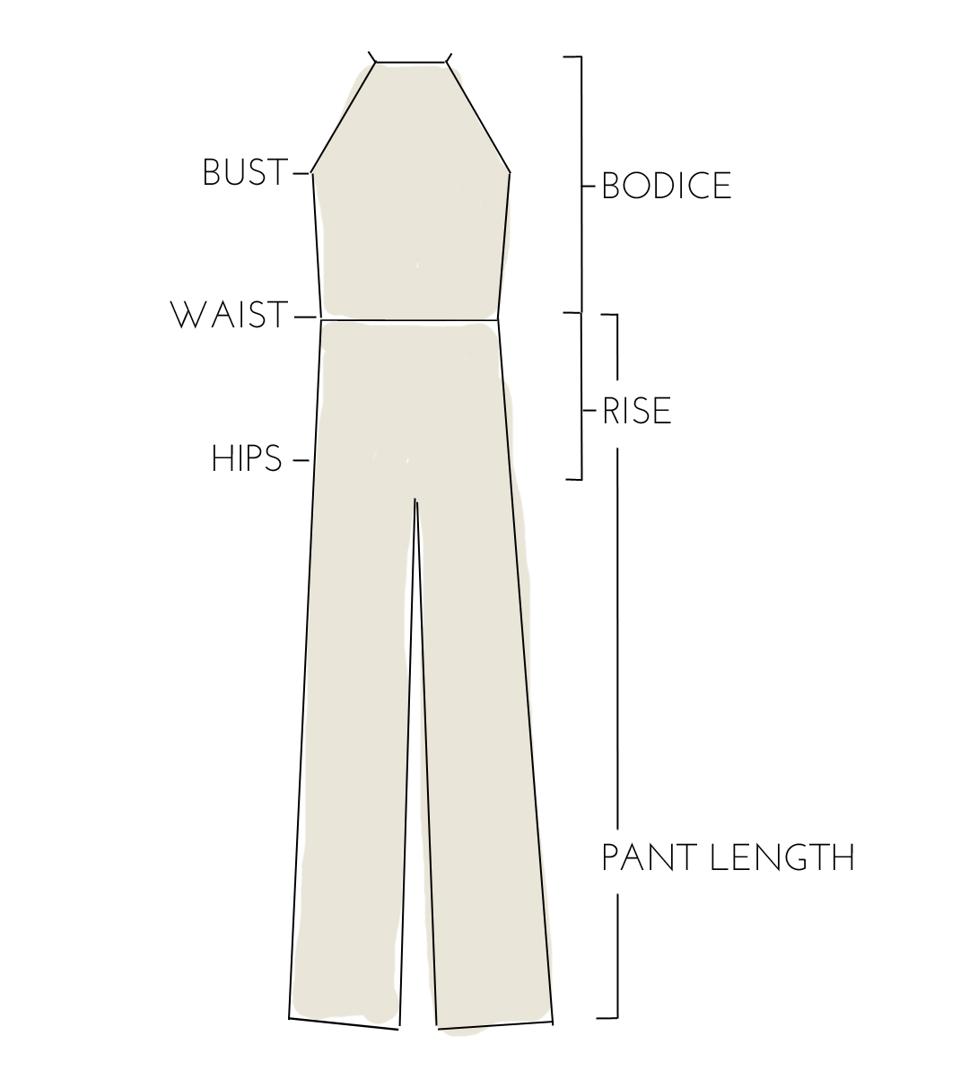 Size Guide - Here at WELCOME, we don't subscribe to the idea that women's bodies are measured in 'small, medium, and large'. We're beautiful in all shapes and sizes, so we make our clothing easy to adjust to many bodies and make measurements available for each item. This is an easy guide to understand what each measurement means. If you have further questions, feel free to ask. We're happy to help!