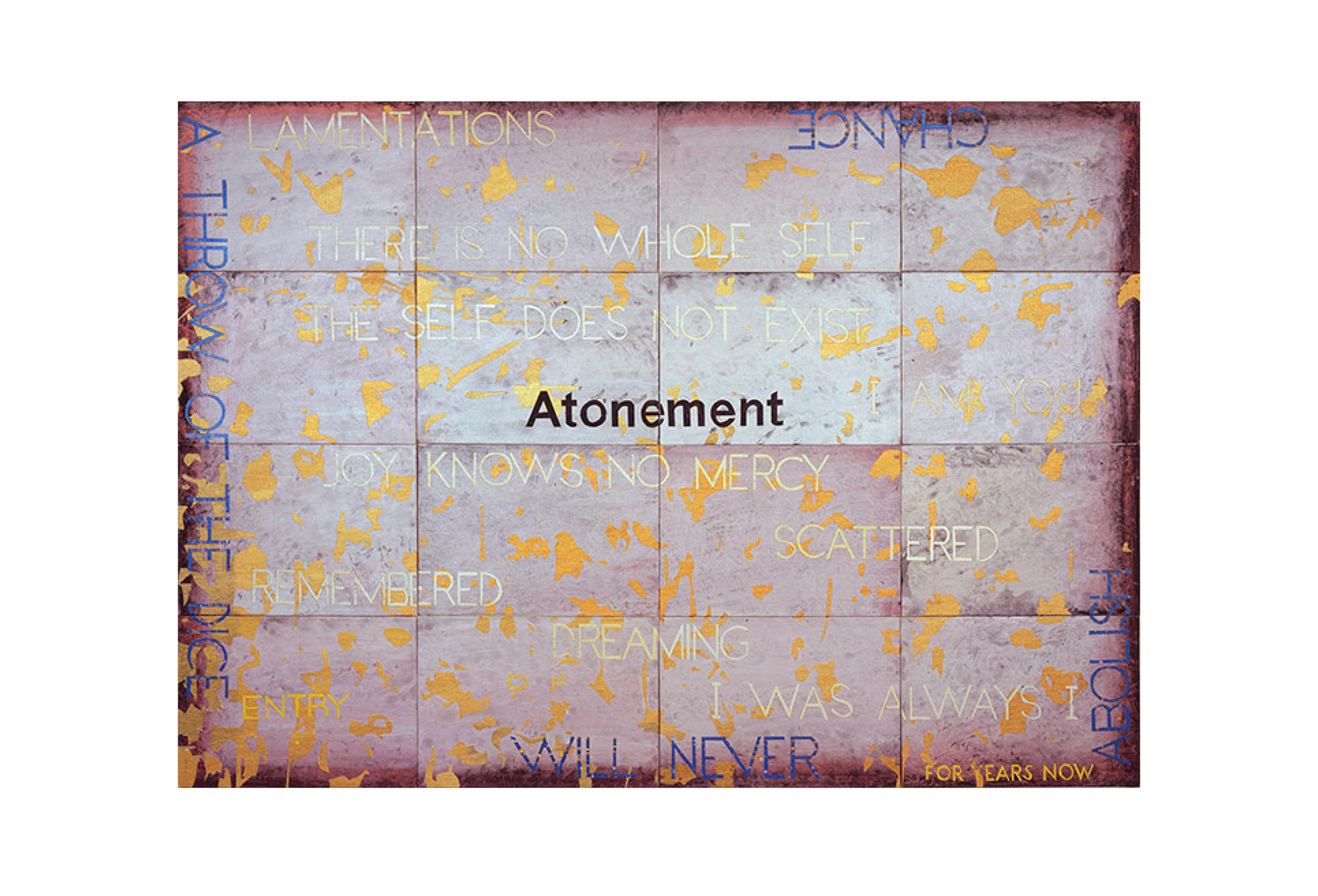 Imants Tillers   Nature Speaks: DF , 2011  acrylic, gouache on 16 canvasboards 101 × 142cm
