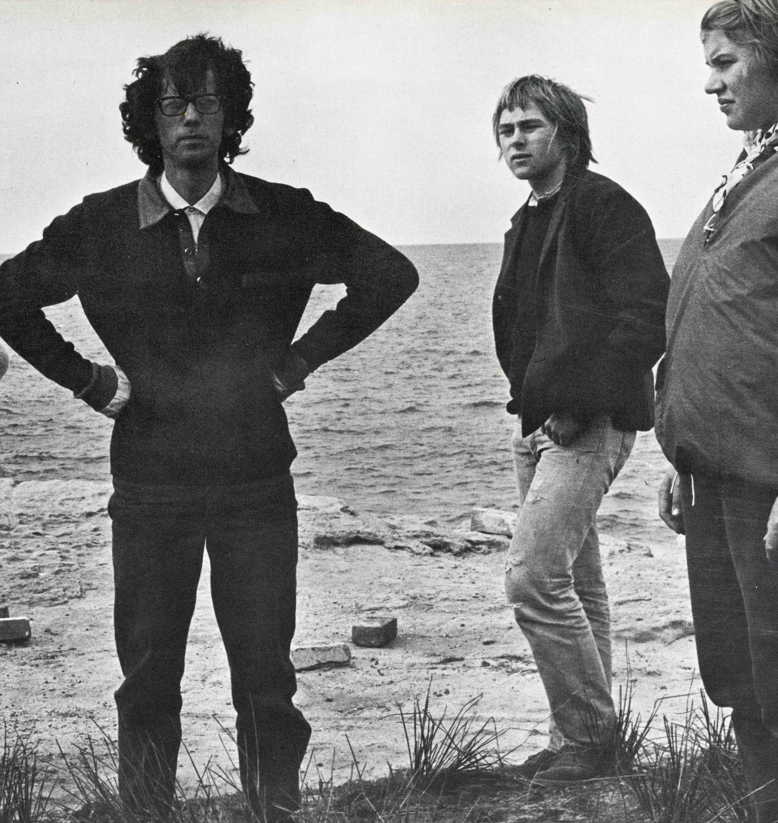 Christo with Imants Tillers at Little Bay, Sydney in 1969