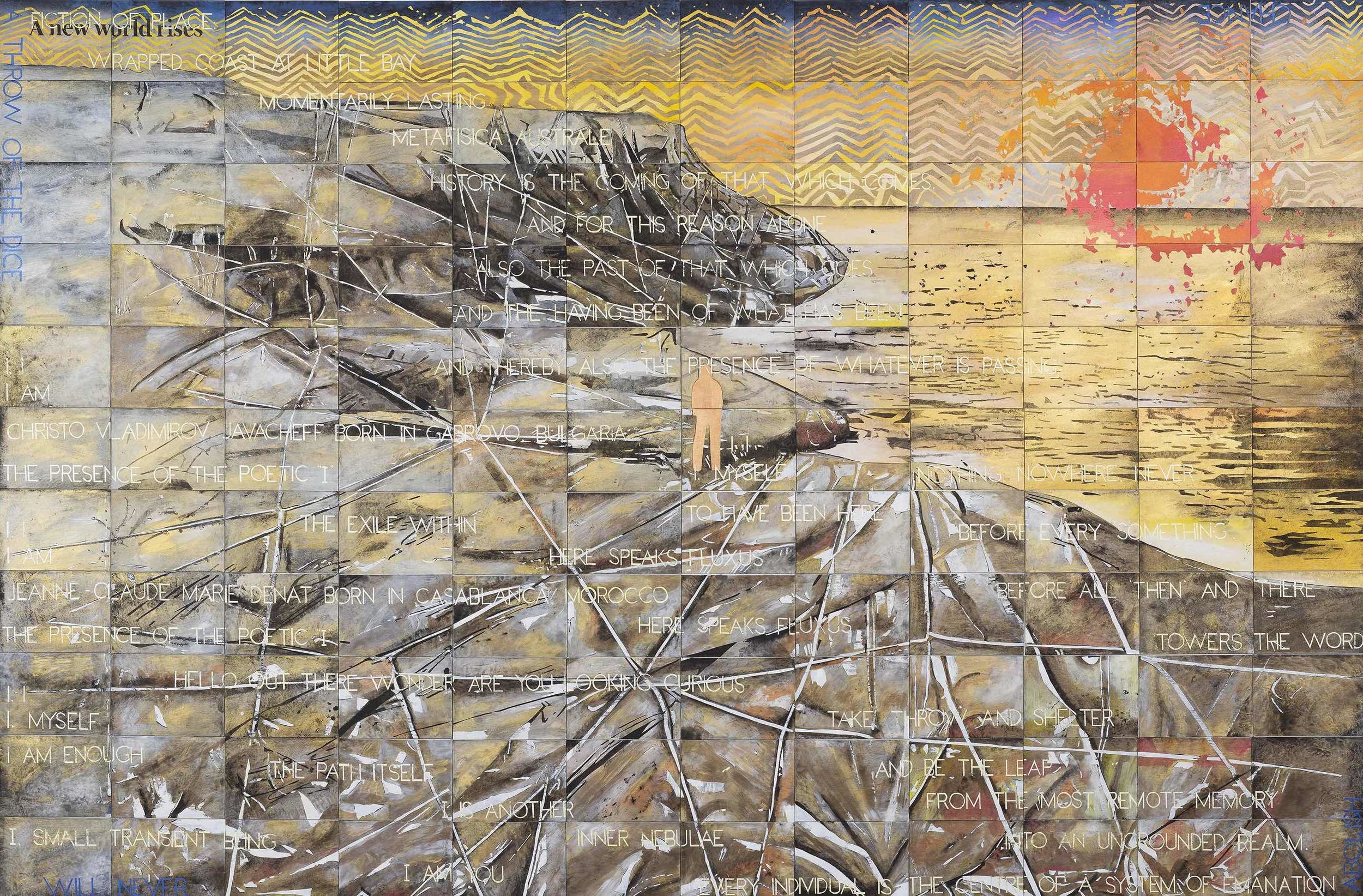 Imants Tillers  Wrapped Coast , 2019