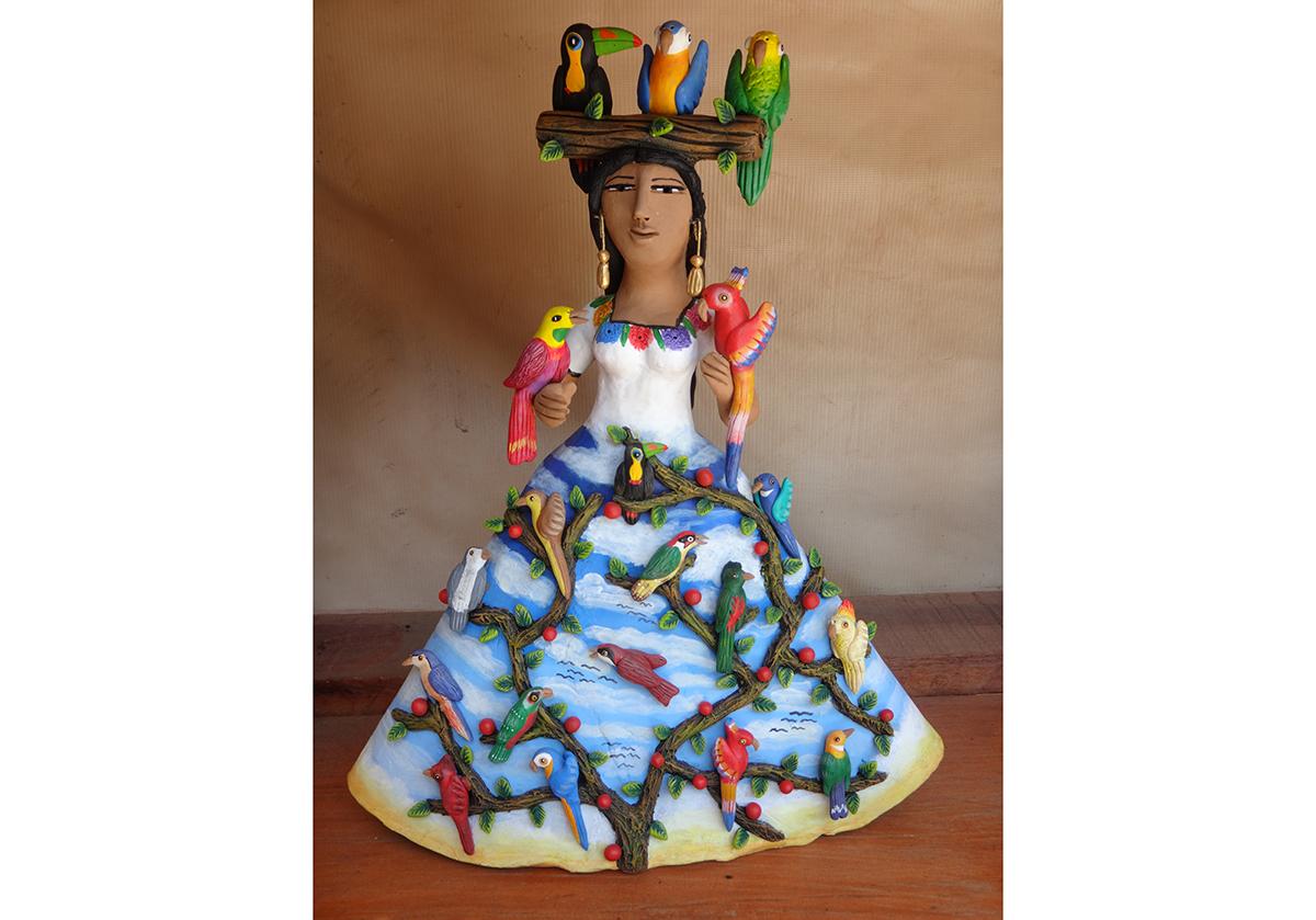 Friends of Oaxacan Folk Art — Painted red #17.JPG