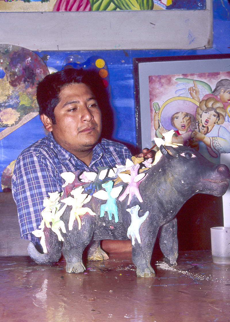 Friends of Oaxacan Folk Art — Painted red #32.jpeg