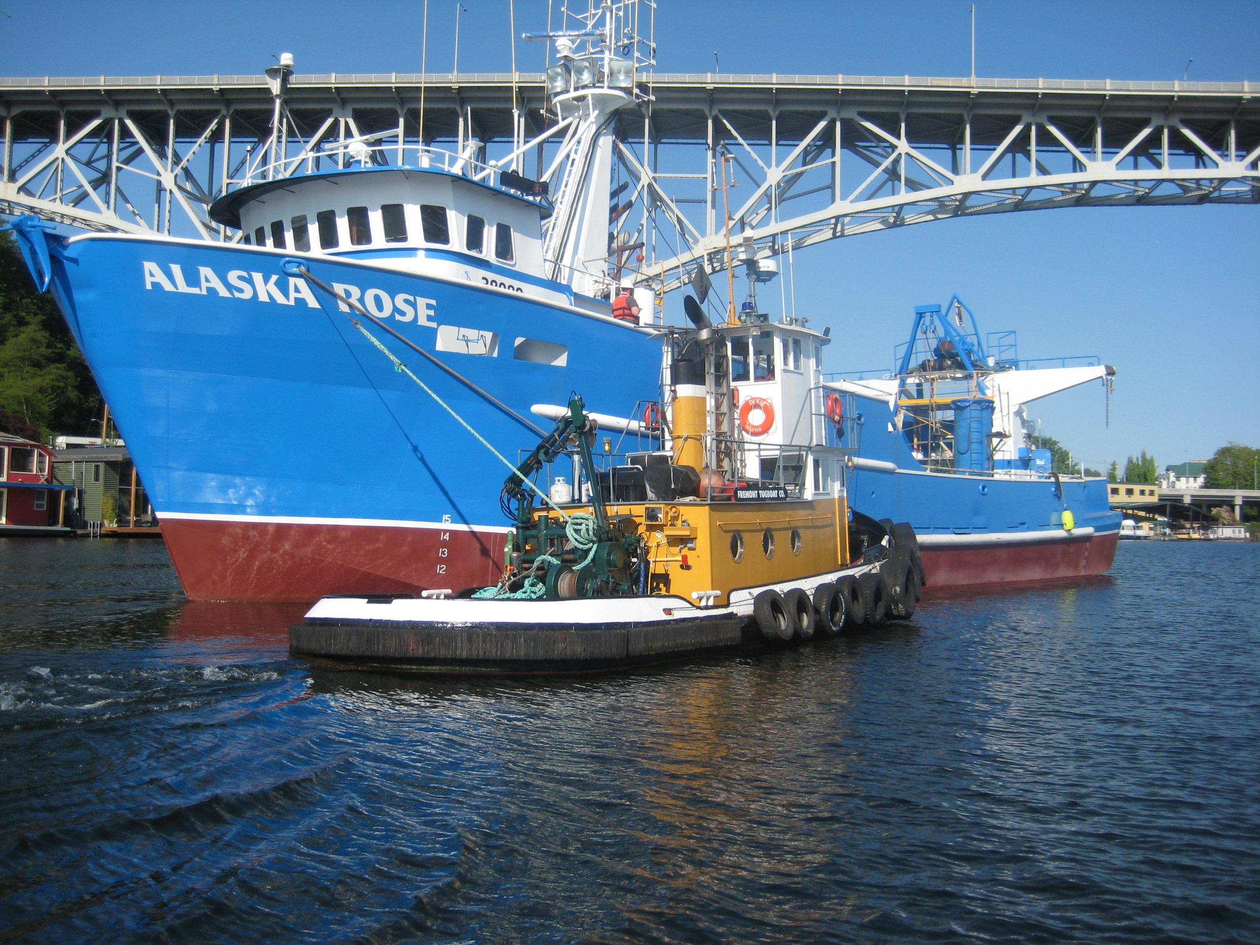 Dixie with Alaska Rose heading for Ballard