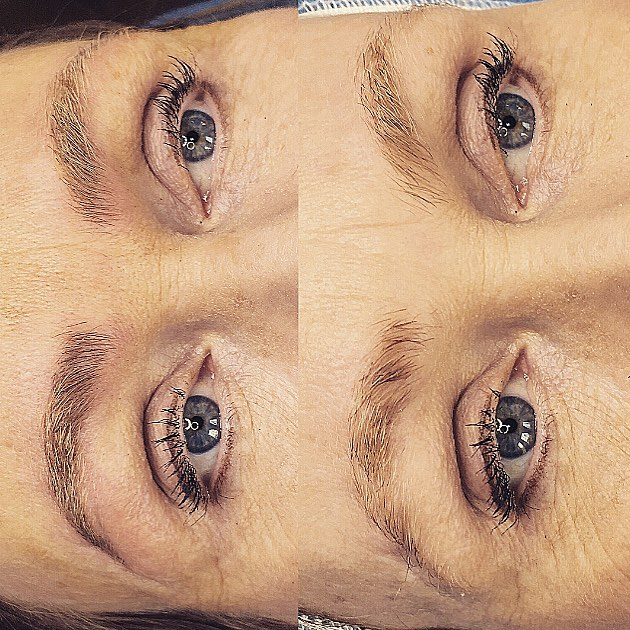 She came to Covet, She new what She Wanted. Real Looking Soft Fluffy Brows, With Symmetry, Balance + a Bonus Scar Camouflage. Such a Fun and Rewarding day.
