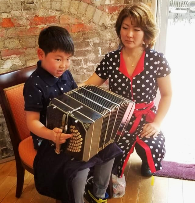 Tango: Bandoneon and Piano Lessons - Yukie Kawanami began her piano studies as a child and completed her Bachelors in Piano Performance at Tokyo University in 2002. She began playing bandoneon during her university studies and since then has won multiple competitions and performed throughout the world as both a pianist and bandoneonista.