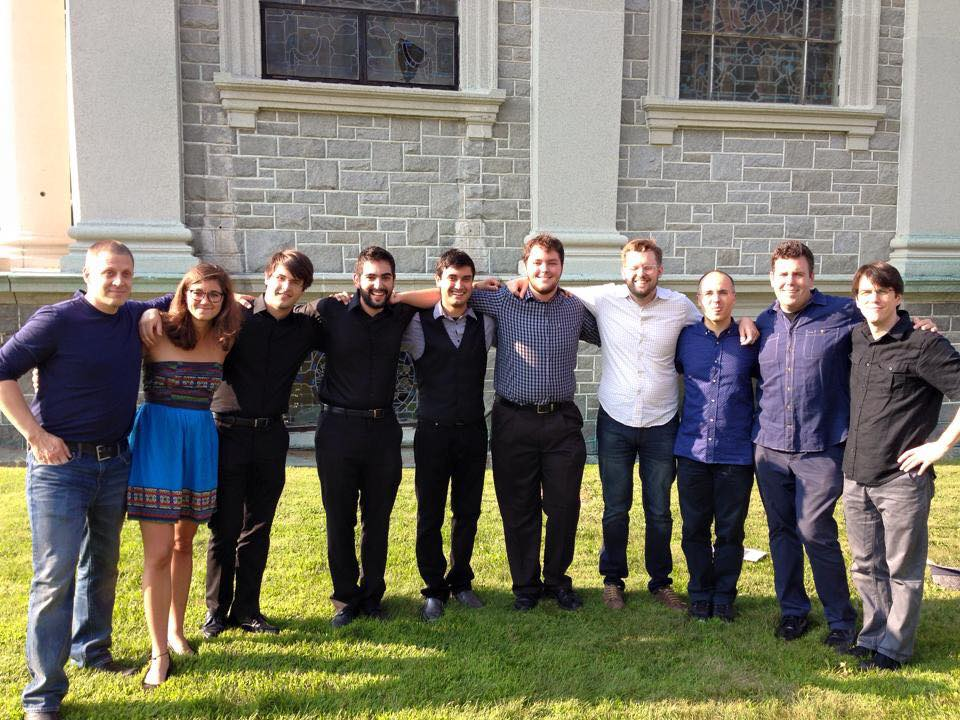 Members of Up/Down with the Week 2 teachers of the 2015 Chosen Vale Percussion Seminar.