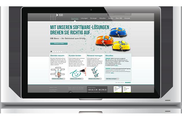 07/2011 Relaunchisb-bonn.de - Leitidee, Seitenstruktur, Headlines, Webtexte, Give-aways by BONNINSKIWebdesign & CMS: avaris | godotdriven by: CMS Administrator