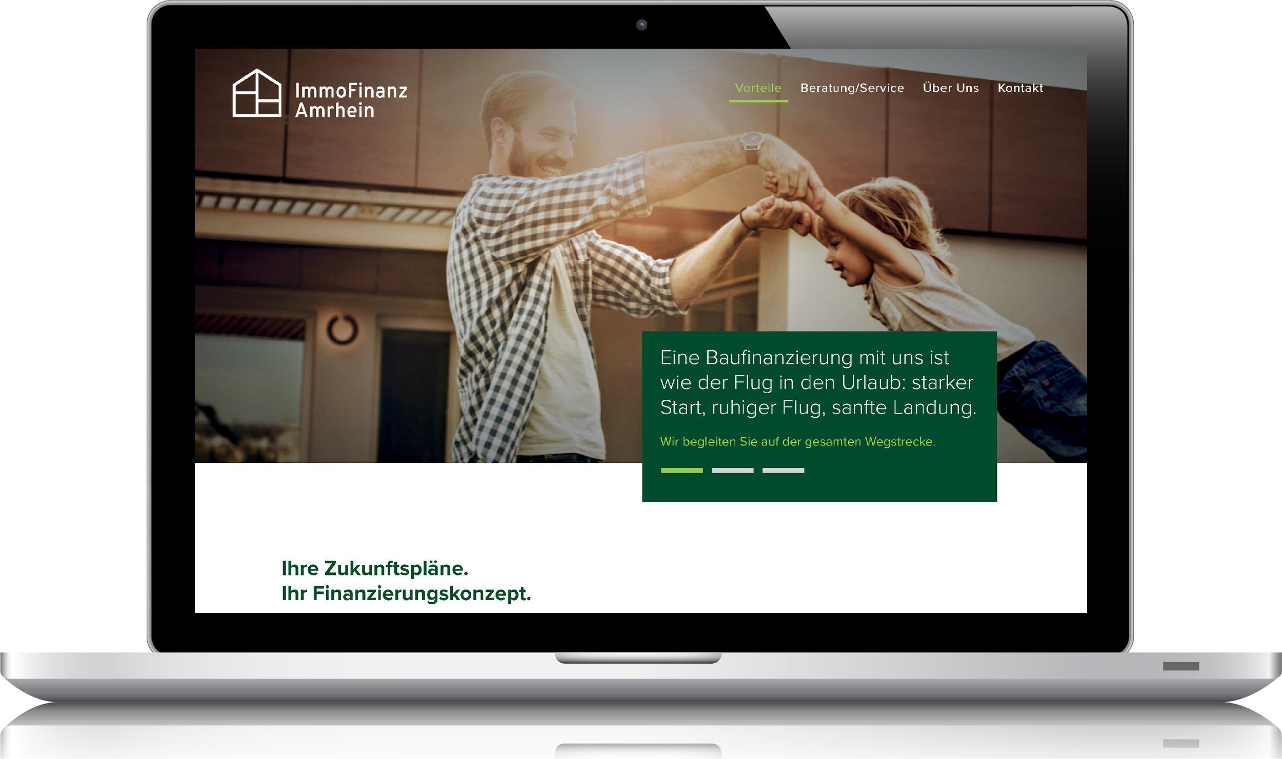 08/2018 LaunchImmoFinanz Amrhein - Konzeption & Webtexte by BONNINSKICorporate Design, Webdesign: Kathrin Rolfsen
