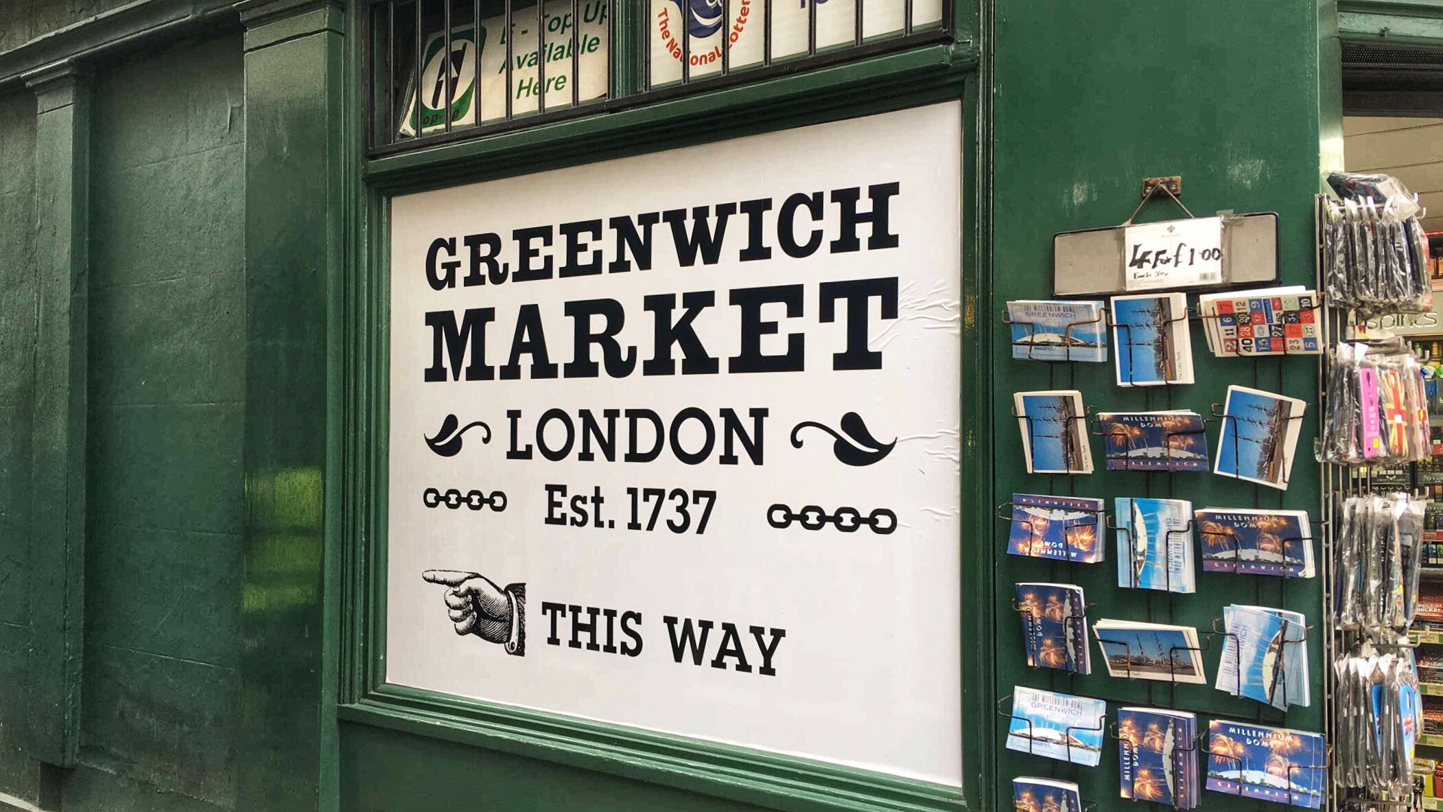 Greenwich Market Sign
