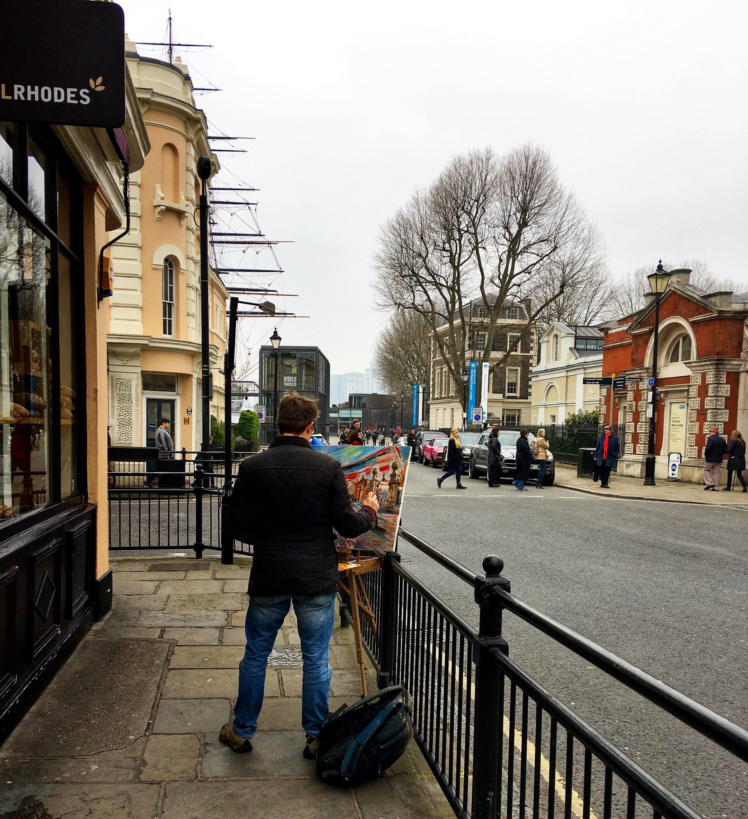 Street Artist in Greenwich