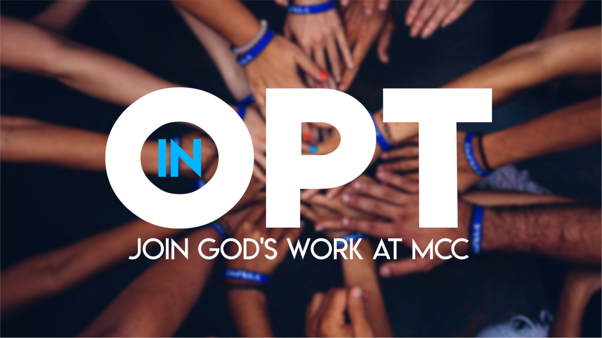 Opt In: Join God's Work at MCC -
