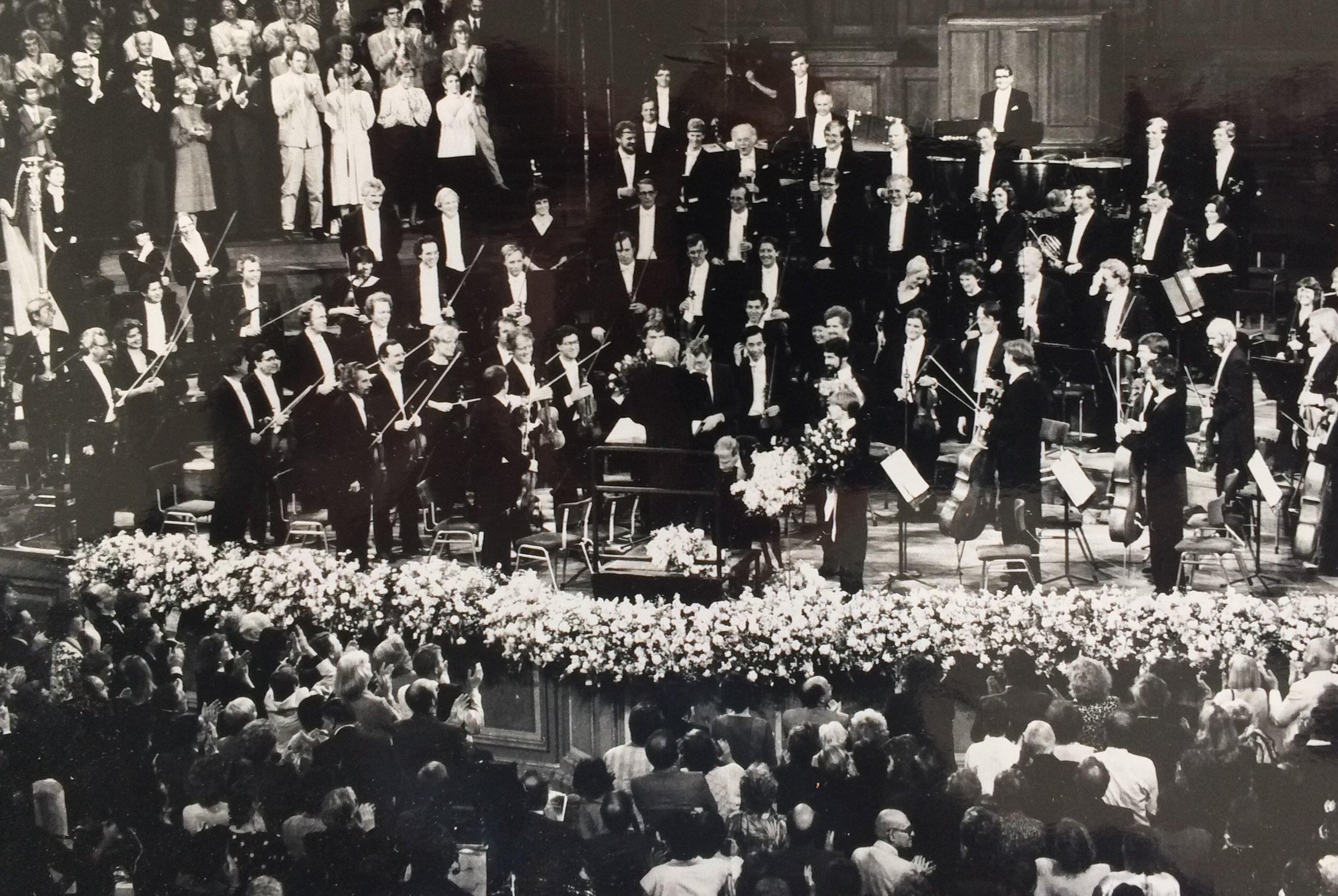 KCO met Leonard Bernstein 1987