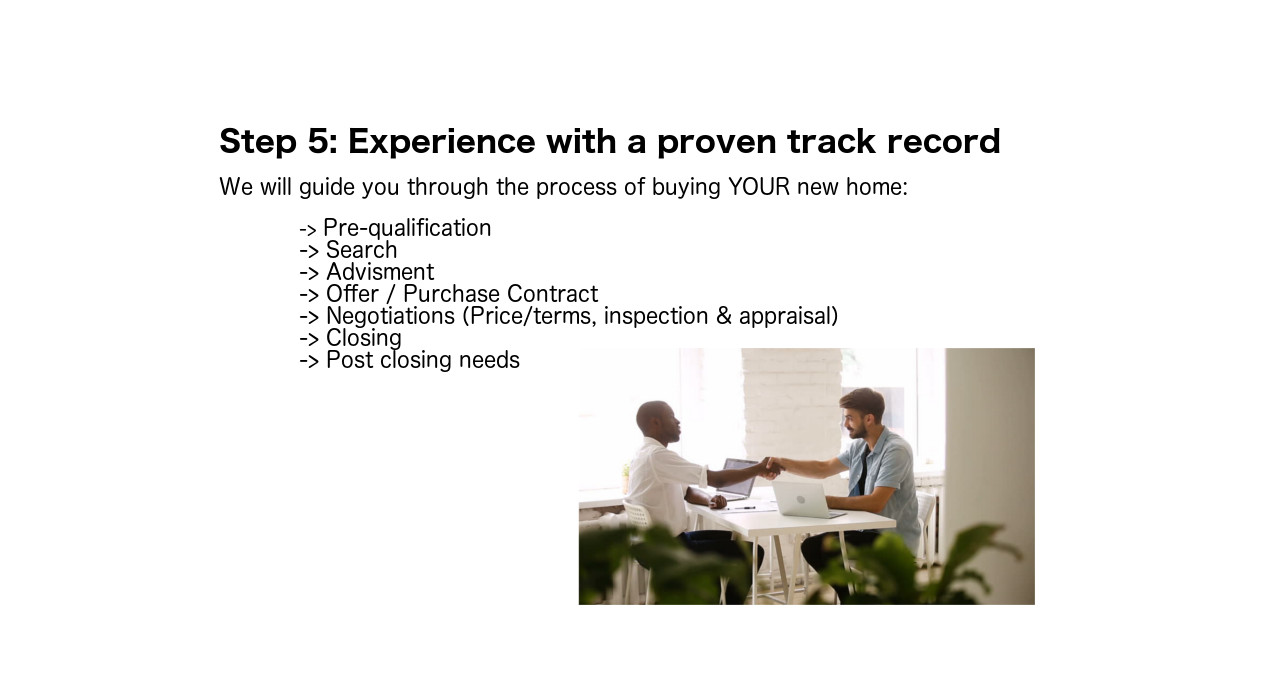 Step 5: Experience with a proven track record