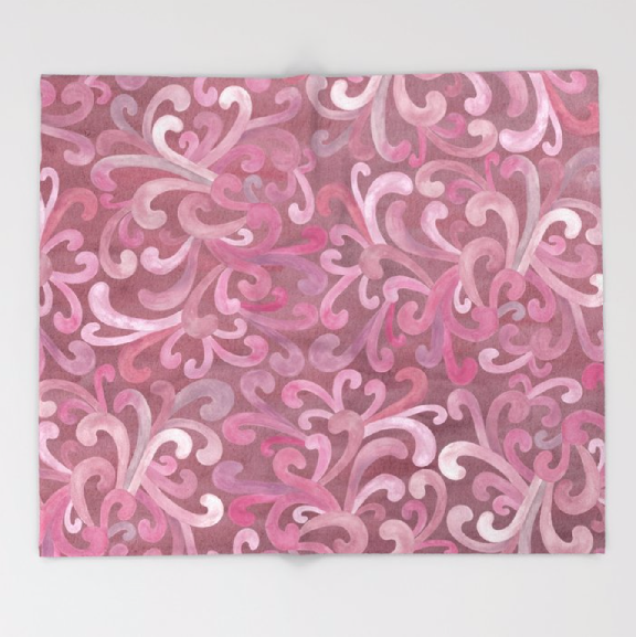 Pink on Pink -Paisley