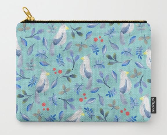 Blue Bird in Watercolour