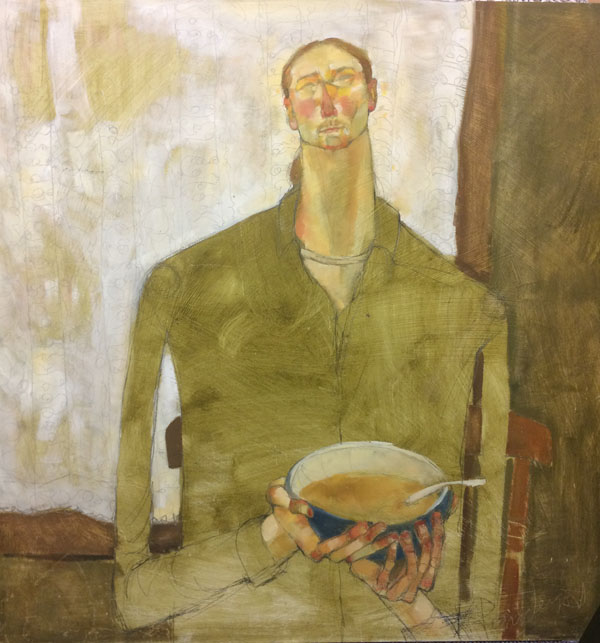 Man With Bowl of Porridge