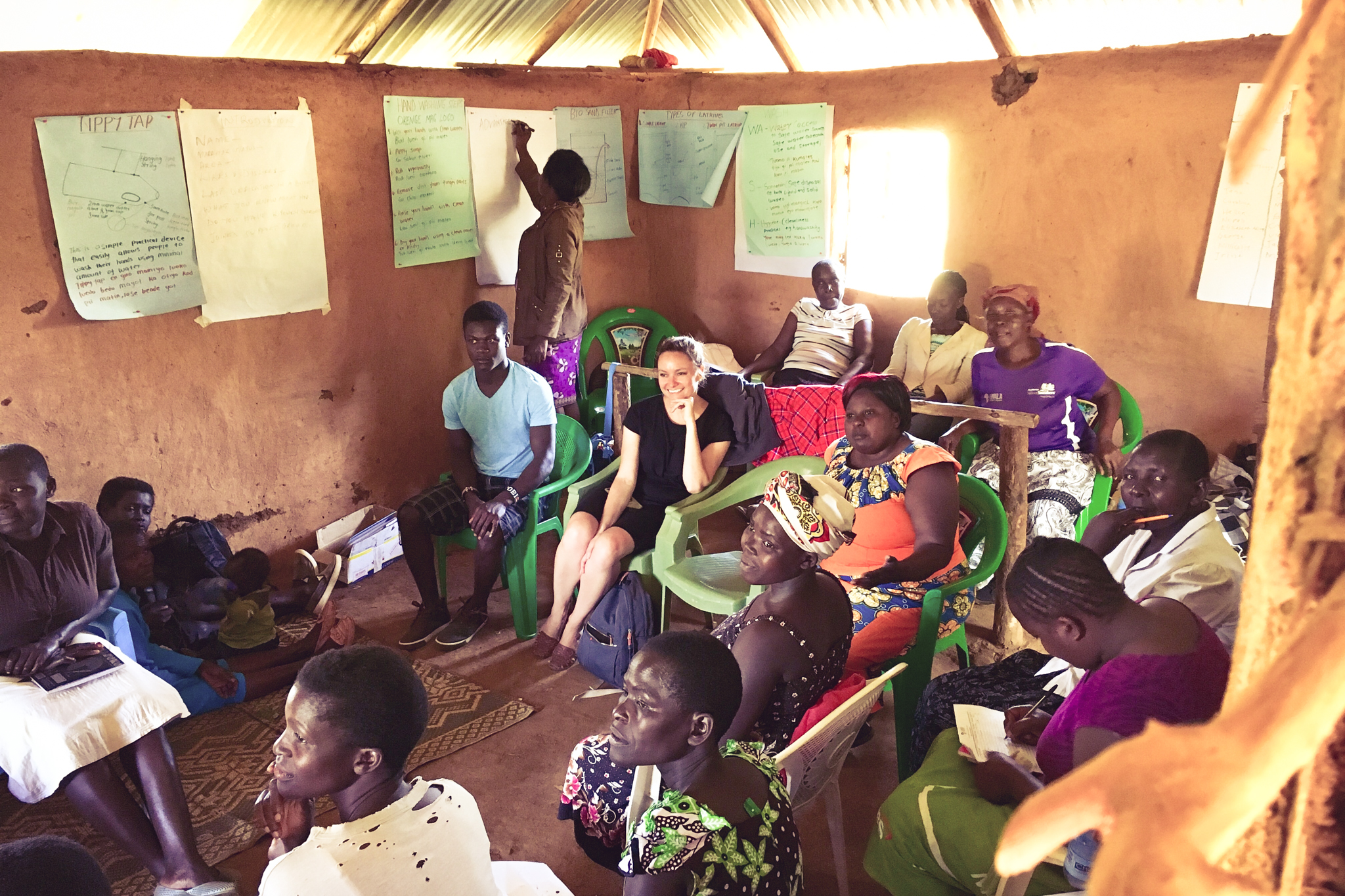 As part of client discovery and onsite immersion: attending a WASH training for community health workers in rural western Kenya with Lwala Community Alliance.