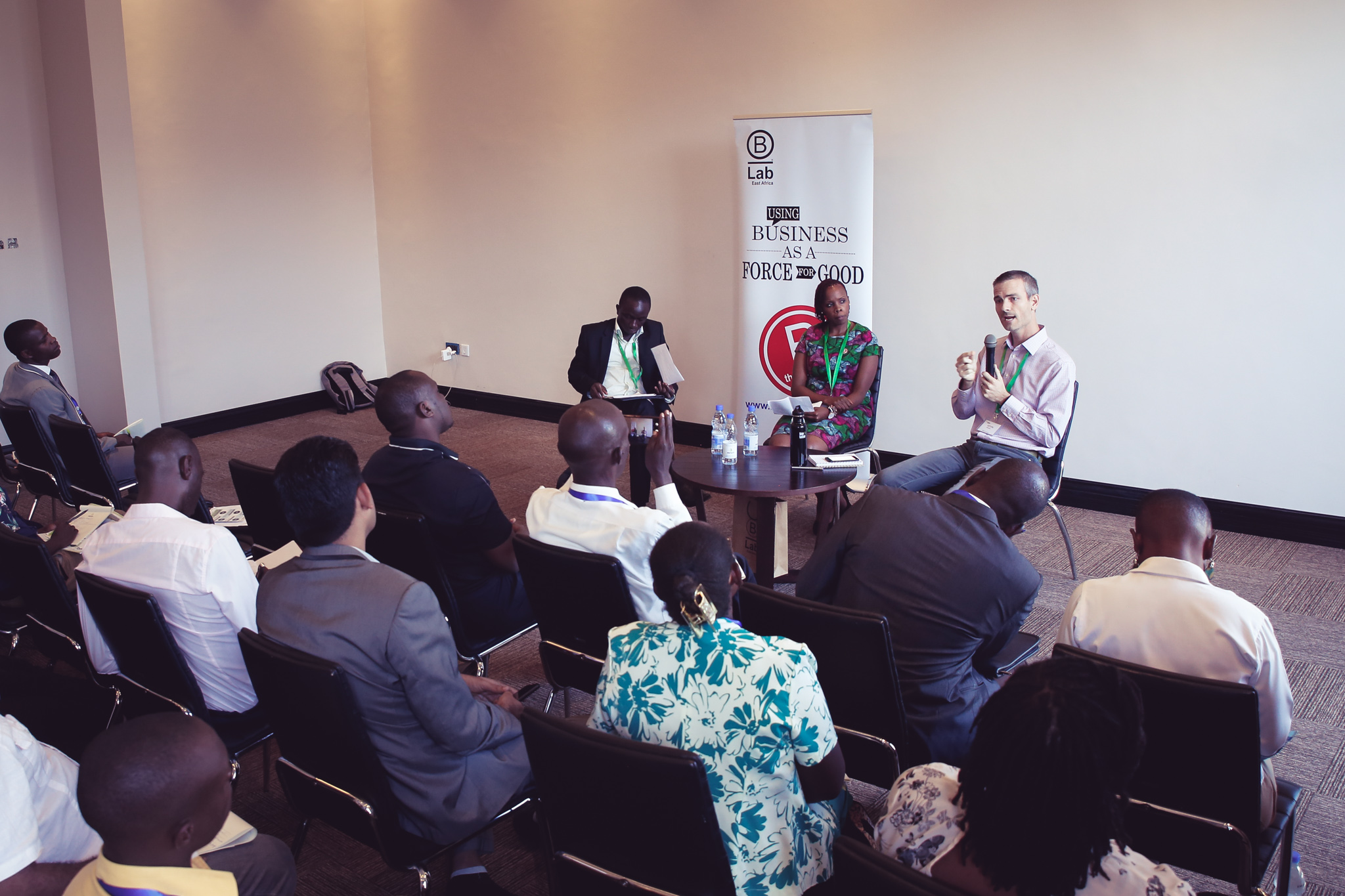 "Offering insights to both doers and donors at the East Africa Impact Investment Summit – ""Measuring and Articulating your impact: Lessons from the B Corp Community."""