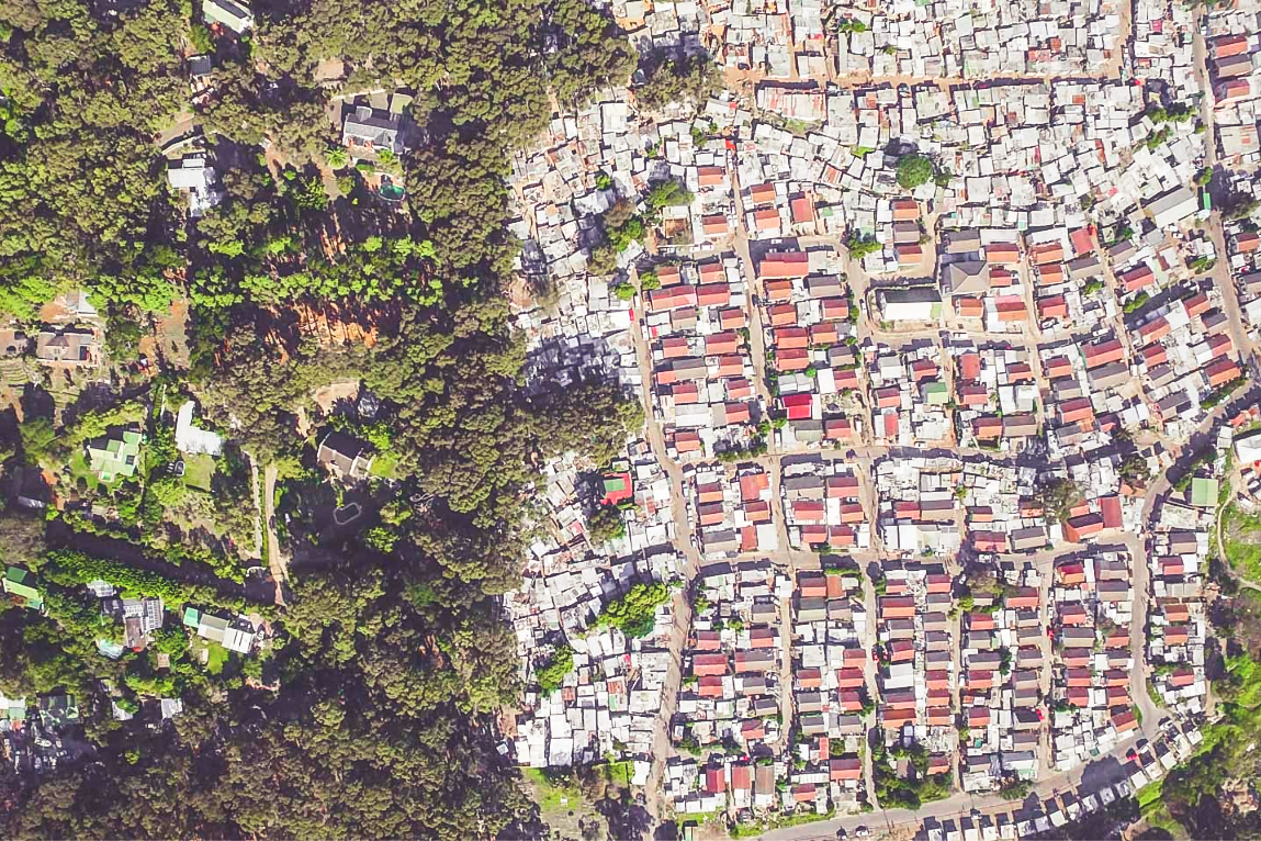 Social inequalities are often hidden and hard to see from ground level. Unequal Scenes uses drone photography to highlight the history, power structures, and systematic disenfranchisement that create and maintain disparities around the globe still today. PHOTO CREDIT: Johnny Miller