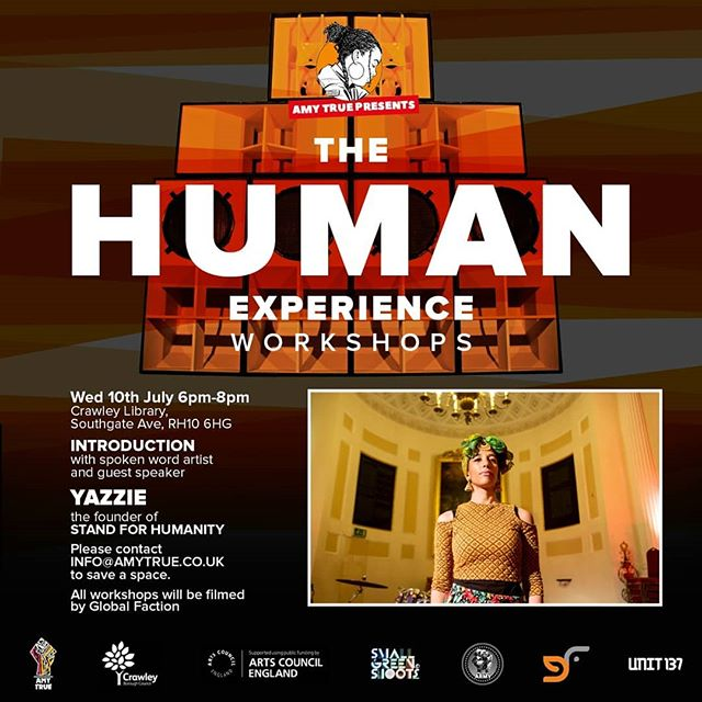THE HUMAN EXPERIENCE WORKSHOPS; **ONLY A FEW SPACES LEFT PLEASE INBOX FOR SPACE, FOR ALL LEVELS OF WRITERS AGED 14- 25. FEMALE / MALE . . .  FREE SPOKEN WORD & RAP WORKSHOPS BASED ON UNIVERSAL HUMAN RIGHTS IN CRAWLEY. **ONLY 10 SPACES AVAILABLE FOR PARTICIPANTS TO PERFORM LIVE & SUPPORT @lowkeyonline  JULY 28TH @CRAWLEY SKATEPARK. . . . . GUEST INCLUDE; @lowkeyonline @standforhumanity  Dr Hannah William's  @djsnuffone  @unit137soundsystem  @GlobalFaction  @epic_journey_ Pro skaters / Breakdancers plus special Guests performance from @ru1fam . . . #MoreLoveMoreLight #MoreBlacksMoreDogsMoreIrish #UniversalHumansrightsDeclaration #equality #Justice understandingYourRights #universalhiphop #Spokenword #ProSkaters #Crawley #unit137Soundsystem #PeoplesArmy #GlobalFaction #AmyTrue11