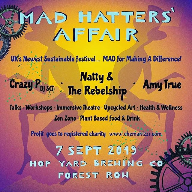 Reposted from @madhattersaffair (@get_regrann) -  @crazypmusic @nattymusic @amytrue1 plus many more for only £20 If you haven't already, get your ticket before they sell out. Limited capacity.  Check the full line up online www.madhattersaffair.com  #AmyTrueLive #AmyTrue11 #PeoplesArmyuk #globalfaction #forestrow #deephouse #melodictechno #hatparty #hopyardbrewingco #freeentry #WillSoftmore #summerparty #rafiki #crazyp #nubiyantwist #nattymusic #natty #reggae #afrobeat - #regrann