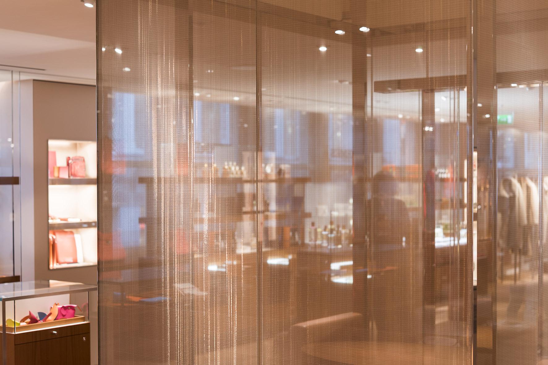 Sophie-Mallebranche-Hermes-Bons-Street-London-Glass-Lamination-Elevator-Fixed-Panels