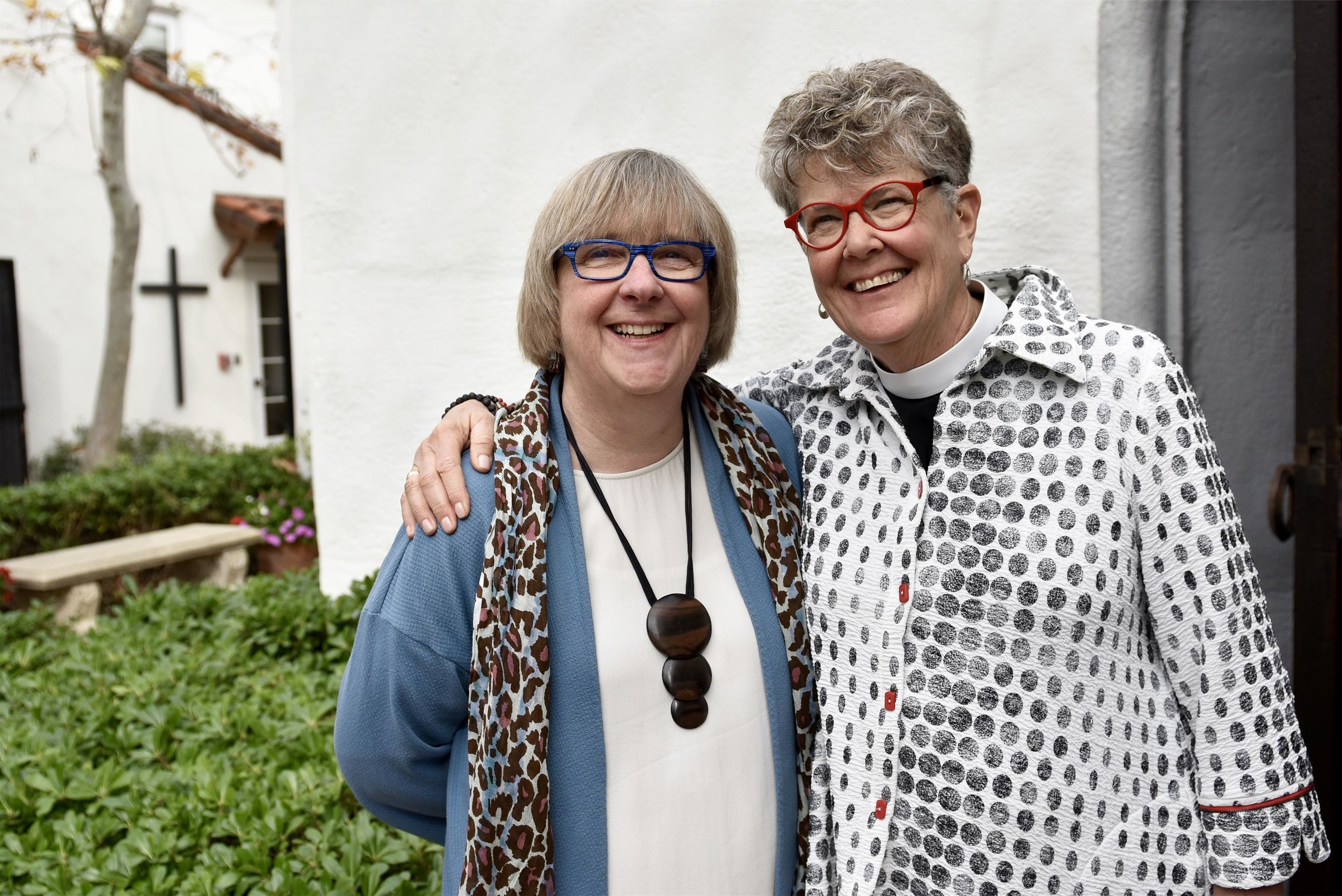 Photo credit Colleen Dodson Baker: Emily and Tracey during a recent speaking tour around Southern California