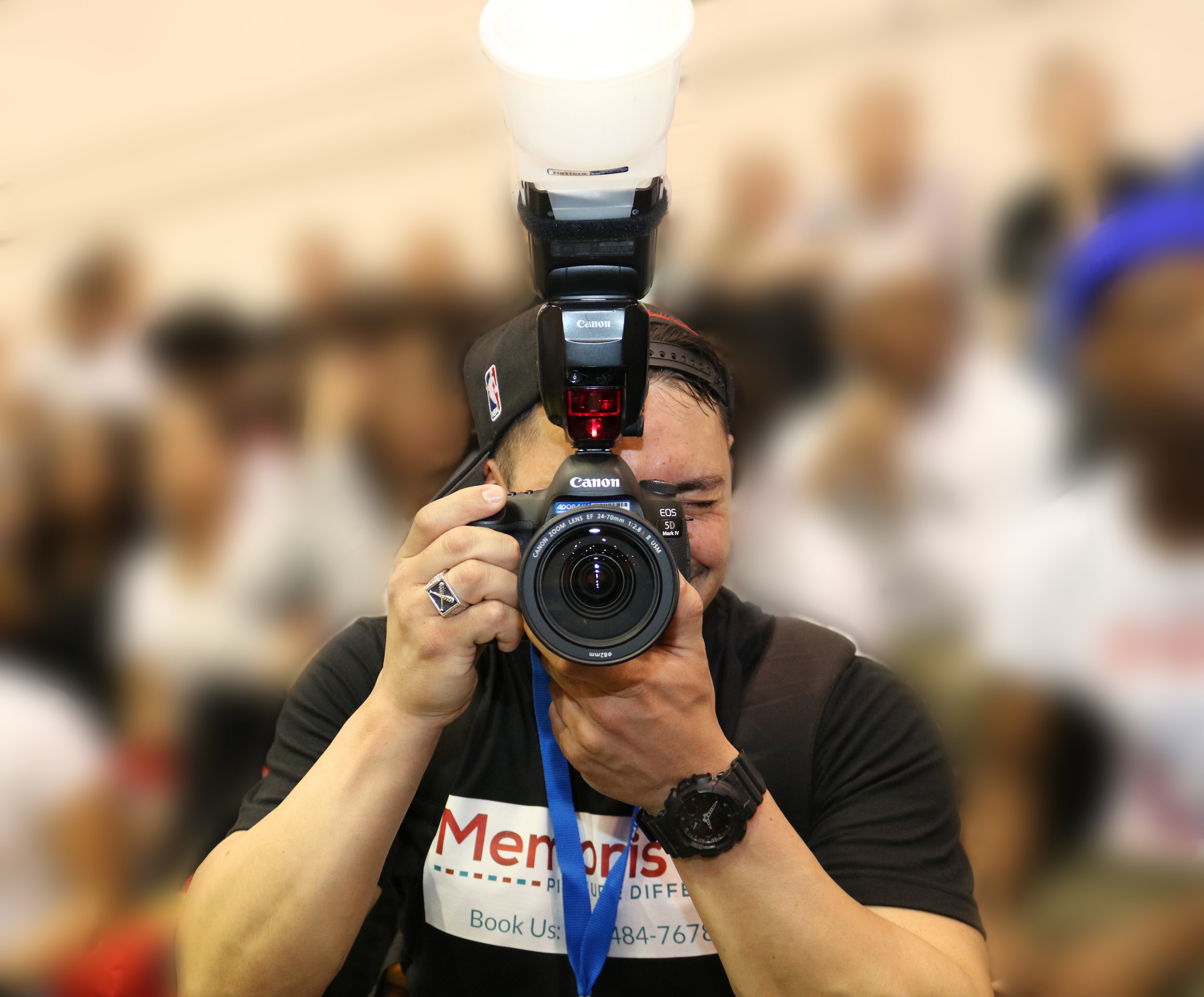 Magnet Photographer - Our expert photographer roams and captures real-time moments of you and your guests having fun at your event.