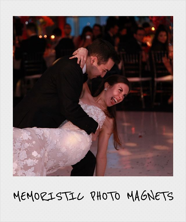 ❤️ The money shot ❤ because some moments are meant to be magnitized. There is something special about the immidiate gratification of experiencing the moment and then seeing it on a magnet right after and being able to take it home as a keepsake. #weddingmagnets