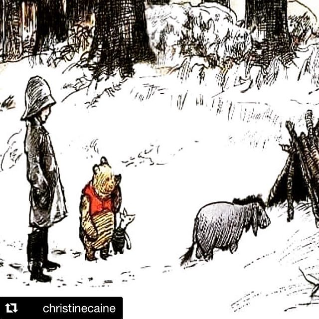 "It occurred to Pooh and Piglet that they hadn't heard from Eeyore for several days, so they put on their hats and coats and trotted across the Hundred Acre Wood to Eeyore's stick house. Inside the house was Eeyore. ""Hello Eeyore,"" said Pooh. ""Hello Pooh. Hello Piglet,"" said Eeyore, in a Glum Sounding Voice. ""We just thought we'd check in on you,"" said Piglet, ""because we hadn't heard from you, and so we wanted to know if you were okay."" Eeyore was silent for a moment. ""Am I okay?"" he asked, eventually. ""Well, I don't know, to be honest. Are any of us really okay? That's what I ask myself. All I can tell you, Pooh and Piglet, is that right now I feel really rather Sad, and Alone, and Not Much Fun To Be Around At All. Which is why I haven't bothered you. Because you wouldn't want to waste your time hanging out with someone who is Sad, and Alone, and Not Much Fun To Be Around At All, would you now."" Pooh looked and Piglet, and Piglet looked at Pooh, and they both sat down, one on either side of Eeyore in his stick house.  Eeyore looked at them in surprise. ""What are you doing?"" ""We're sitting here with you,"" said Pooh, ""because we are your friends. And true friends don't care if someone is feeling Sad, or Alone, or Not Much Fun To Be Around At All. True friends are there for you anyway. And so here we are."" ""Oh,"" said Eeyore. ""Oh."" And the three of them sat there in silence, and while Pooh and Piglet said nothing at all; somehow, almost imperceptibly, Eeyore started to feel a very tiny little bit better.  Because Pooh and Piglet were There. No more; no less. ▪️The holidays can be really tough for some people. Just a little reminder from Pooh and Piglet on how to love a friend who is going through a hard time.▪️Thx @thedailyst  #repost @christinecaine  #tistheseason #love #everybodyalways"
