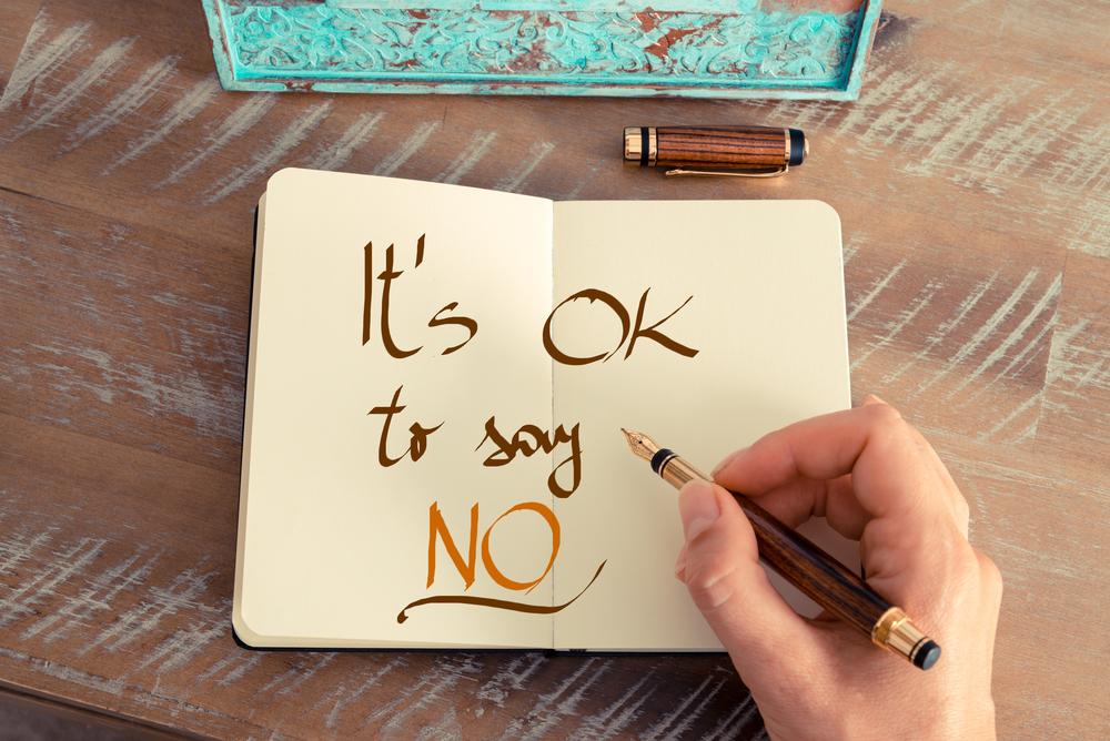 Kun opit sanomaan EI kaikille niille asioille, jotka vievät aikaasi oman hyvinvointisi hoitamisesta, alat voida paremmin .