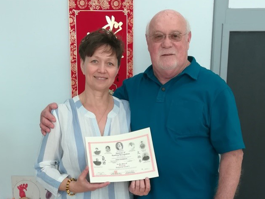 """Irina Tarbeeva  Certified Level 1 24 Posture Wu Yi Jie He Qigong Instructor  Irina began her tai chi journey in 1999, studying the Yang style with master Lu De. Since 2014, she's been involved in Dr. Paul Lam's """"Tai Chi For Health"""" programs, which support self-healing and wellness for conditions like arthritis and diabetes. She opened her own"""" Tai Chi For Health Studio"""" in Iron River, MI. In 2017 she began training in 24 Posture Therapeutic Qi Gong with Bill Pickett. In 2018 Irina became certified as Instructor Level 1 in 24 Posture Therapeutic Qigong.  Iron River, Michigan  Phone:  906-265-2900"""