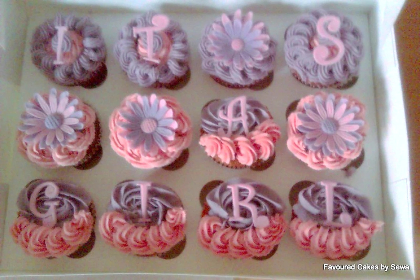 Its a Girl Pink and Lilac Cupcakes