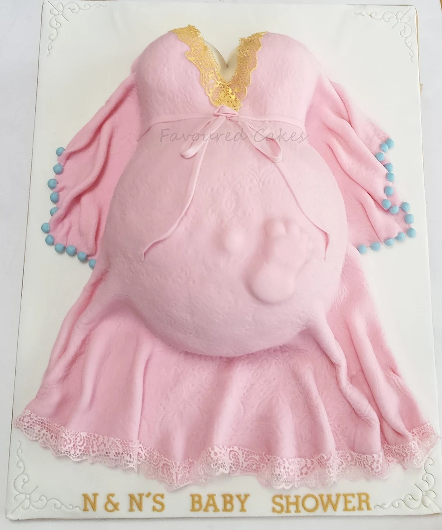 Baby Bump Cake Lace dress BS10