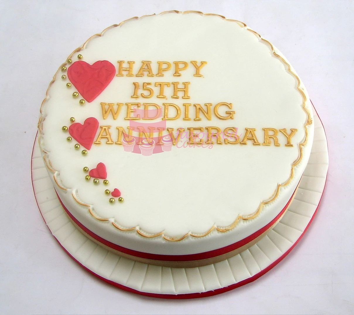 4 hearts Wedding Anniversary Cake