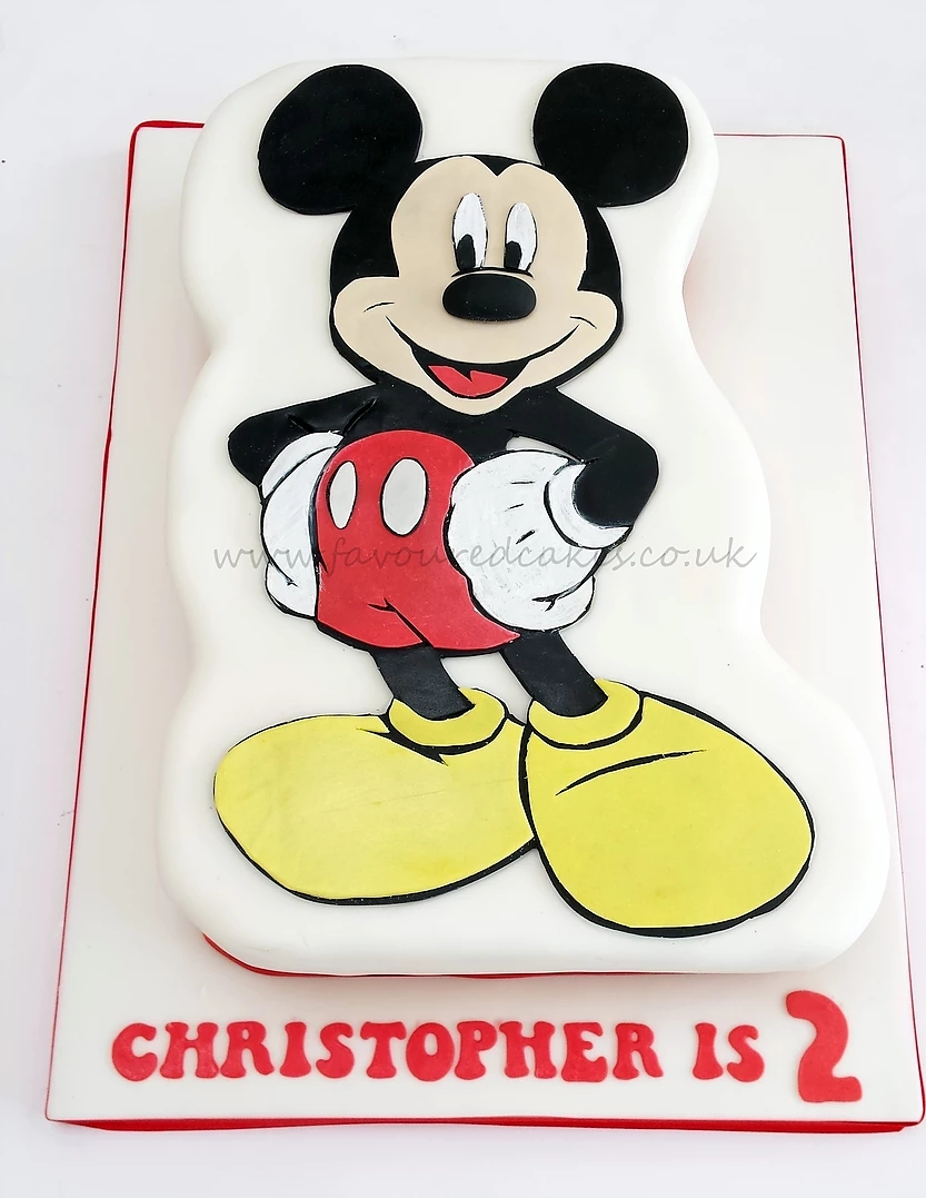 2D Mickey Mouse Body Cake MK03